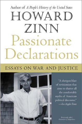 Passionate Declarations Essays on War and Justice  2003 edition cover