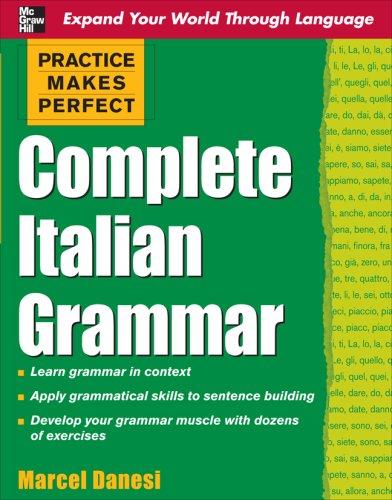Complete Italian Grammar   2009 edition cover