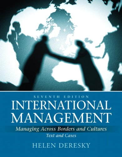 International Management Managing Across Borders and Cultures, Text and Cases 7th 2011 edition cover
