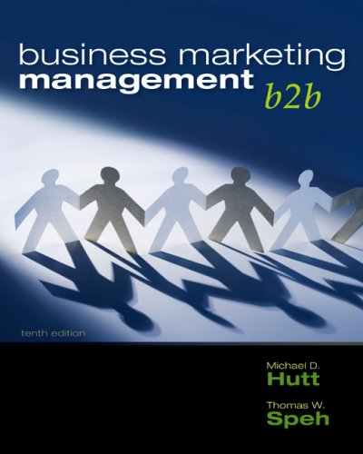 Business Marketing Management - B2b  10th 2010 edition cover