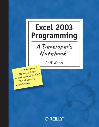 Excel 2003 Programming   2004 9780596007676 Front Cover