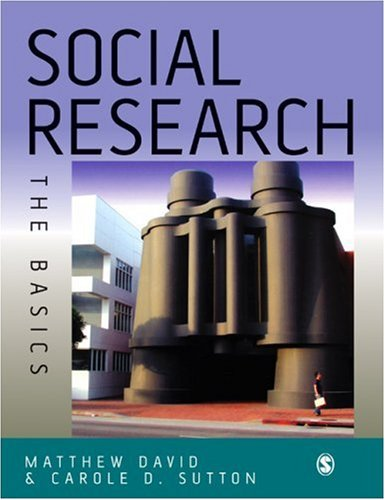 Social Research The Basics  2004 9780761973676 Front Cover