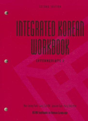 Integrated Korean Workbook: Intermediate 2  2013 edition cover