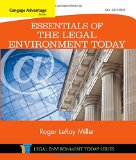 Essentials of the Legal Environment Today:   2015 9781305262676 Front Cover