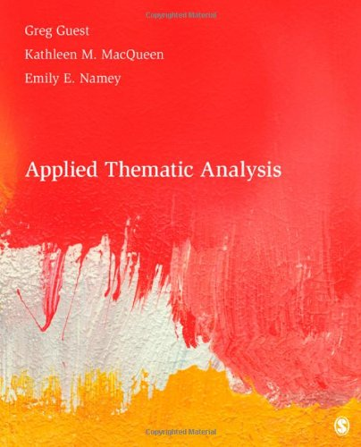 Applied Thematic Analysis   2012 edition cover
