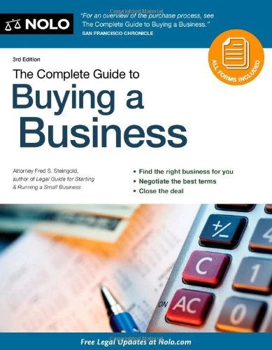 Complete Guide to Buying a Business  3rd 2010 (Revised) 9781413312676 Front Cover