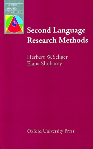 Second Language Research Methods   1989 9780194370677 Front Cover