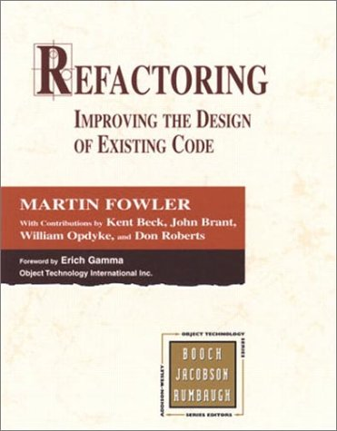 Refactoring Improving the Design of Existing Code  1999 edition cover