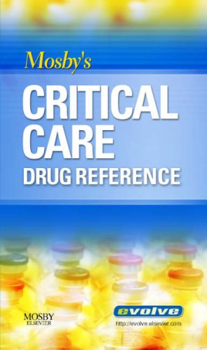 Mosby's Critical Care Drug Reference   2007 edition cover