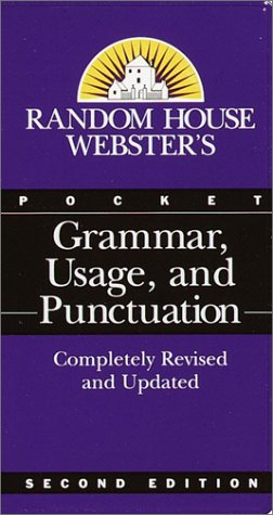 Random House Webster's Pocket Grammar, Usage, and Punctuation  2nd 2001 (Large Type) edition cover