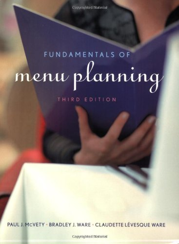 Fundamentals of Menu Planning  3rd 2009 edition cover