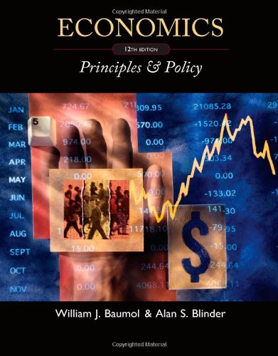 Economics Principles and Policy 12th 2012 9780538453677 Front Cover