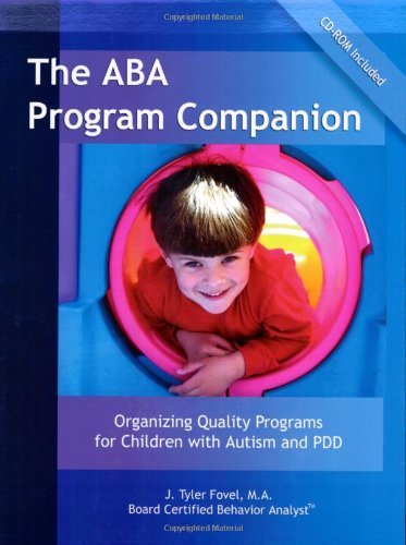 ABA Program Companion Organizing Quality Programs for Children with Autism and PDD  2002 edition cover