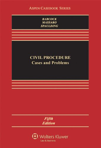 Civil Procedure: Cases and Problems  2013 edition cover