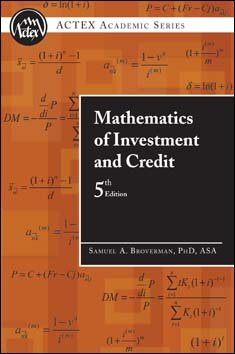 Mathematics of Investment and Credit 5th 2010 edition cover