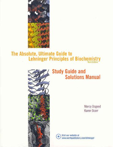 Principles of Biochemistry 3rd 2000 (Student Manual, Study Guide, etc.) edition cover