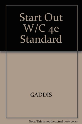 Starting Out with C++ Standard  4th 2004 9781576762677 Front Cover