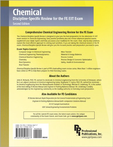 Chemical Discipline-Specific Review for the FE/EIT Exam  2nd 2006 edition cover