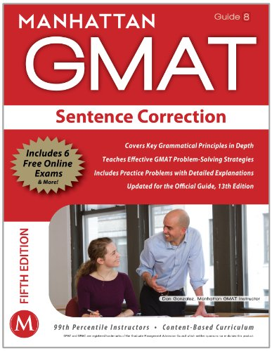 Manhattan GMAT Sentence Correction  5th (Revised) 9781935707677 Front Cover