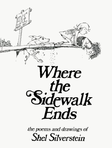 Where the Sidewalk Ends Poems and Drawings  1974 edition cover