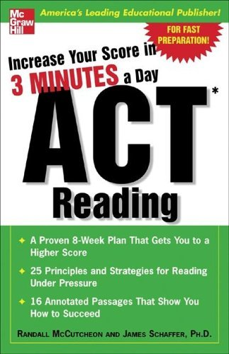 Increase Your Score in 3 Minutes a Day - Act Reading   2005 edition cover