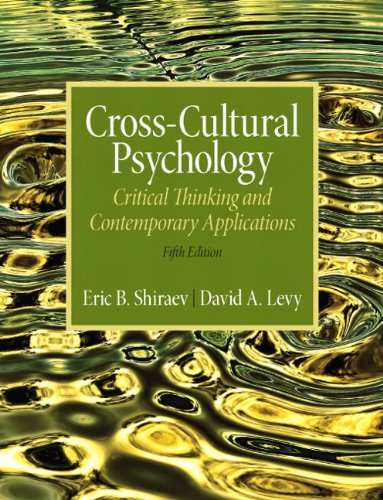 Cross-Cultural Psychology Critical Thinking and Contemporary Applications 5th 2013 edition cover