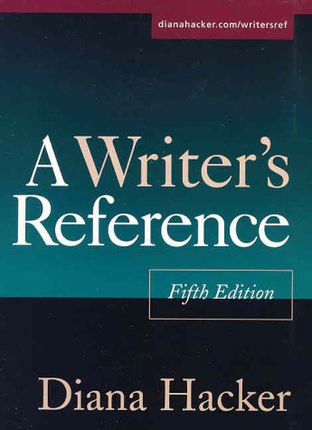 Writer's Reference 5th 2003 edition cover