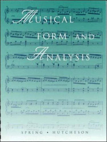 Musical Form and Analysis   1995 edition cover