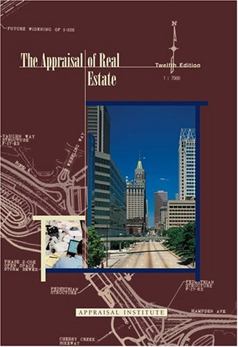 Appraisal of Real Estate 12th 2001 edition cover