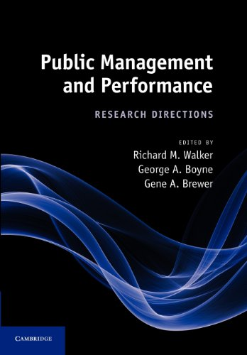 Public Management and Performance Research Directions  2012 9781107411678 Front Cover