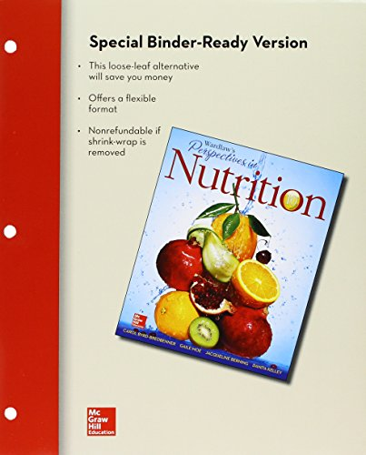 Wardlaw's Perspectives in Nutrition + Connect:   2014 9781259390678 Front Cover