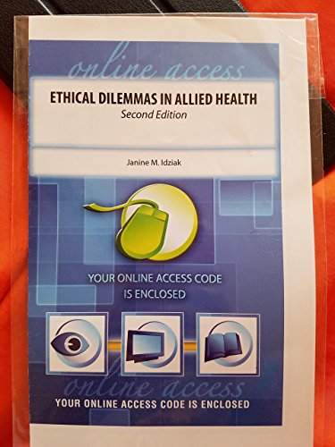 ETHICAL DILEMMAS IN ALLIED HEALTH       N/A edition cover