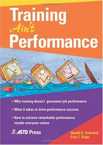 Training Ain't Performance   2004 edition cover