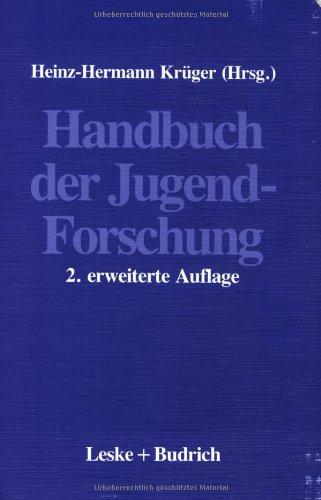 Handbuch Der Jugendforschung:   2012 9783810009678 Front Cover