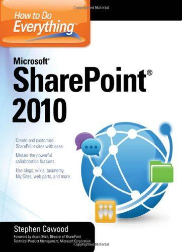 How to Do Everything Microsoft SharePoint 2010   2011 9780071743679 Front Cover