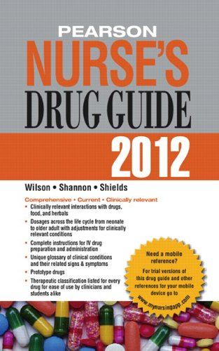 Pearson Nurse's Drug Guide 2012   2012 9780132558679 Front Cover