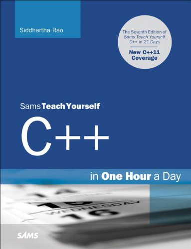 Sams Teach Yourself C++ in One Hour a Day  7th 2012 (Revised) edition cover