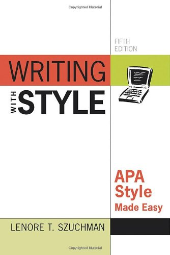 Writing with Style APA Style Made Easy 5th 2011 edition cover