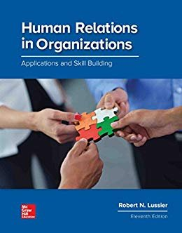 HUMAN RELATIONS IN ORGANIZATIONS        N/A 9781260043679 Front Cover