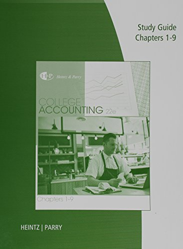 College Accounting: Chapters 1-9  2016 9781305667679 Front Cover