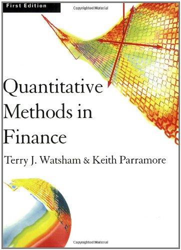 Quantitative Methods for Finance  1st 1997 edition cover