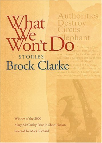 What We Won't Do Stories  2002 edition cover