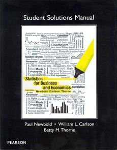 Student Solutions Manual for Statistics for Business and Economics   2013 edition cover