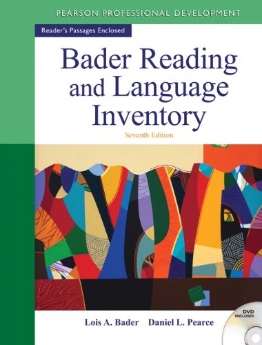 Bader Reading and Language Inventory  7th 2013 (Revised) edition cover