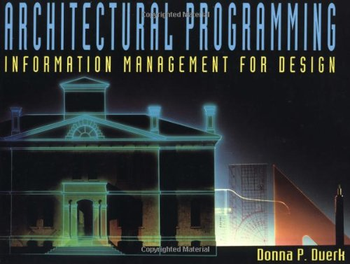 Architectural Programming Information Management for Design  1993 edition cover