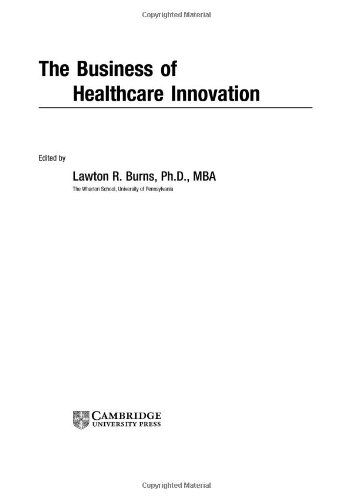 Business of Healthcare Innovation   2005 edition cover