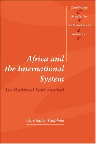 Africa and the International System The Politics of State Survival  1996 edition cover