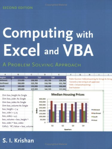 Computing with Excel and VBA  2nd 2009 (Revised) edition cover