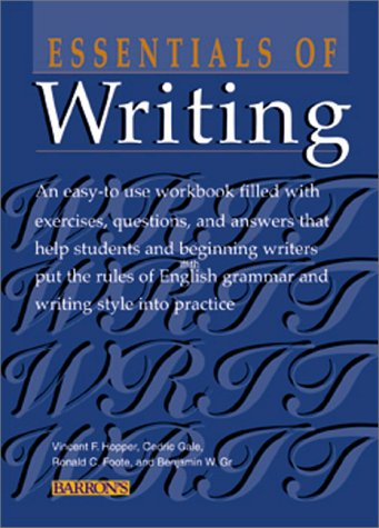 Essentials of Writing  5th 2000 edition cover