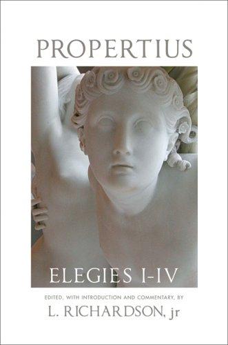 Propertius Elegies I-IV  2006 9780806134680 Front Cover